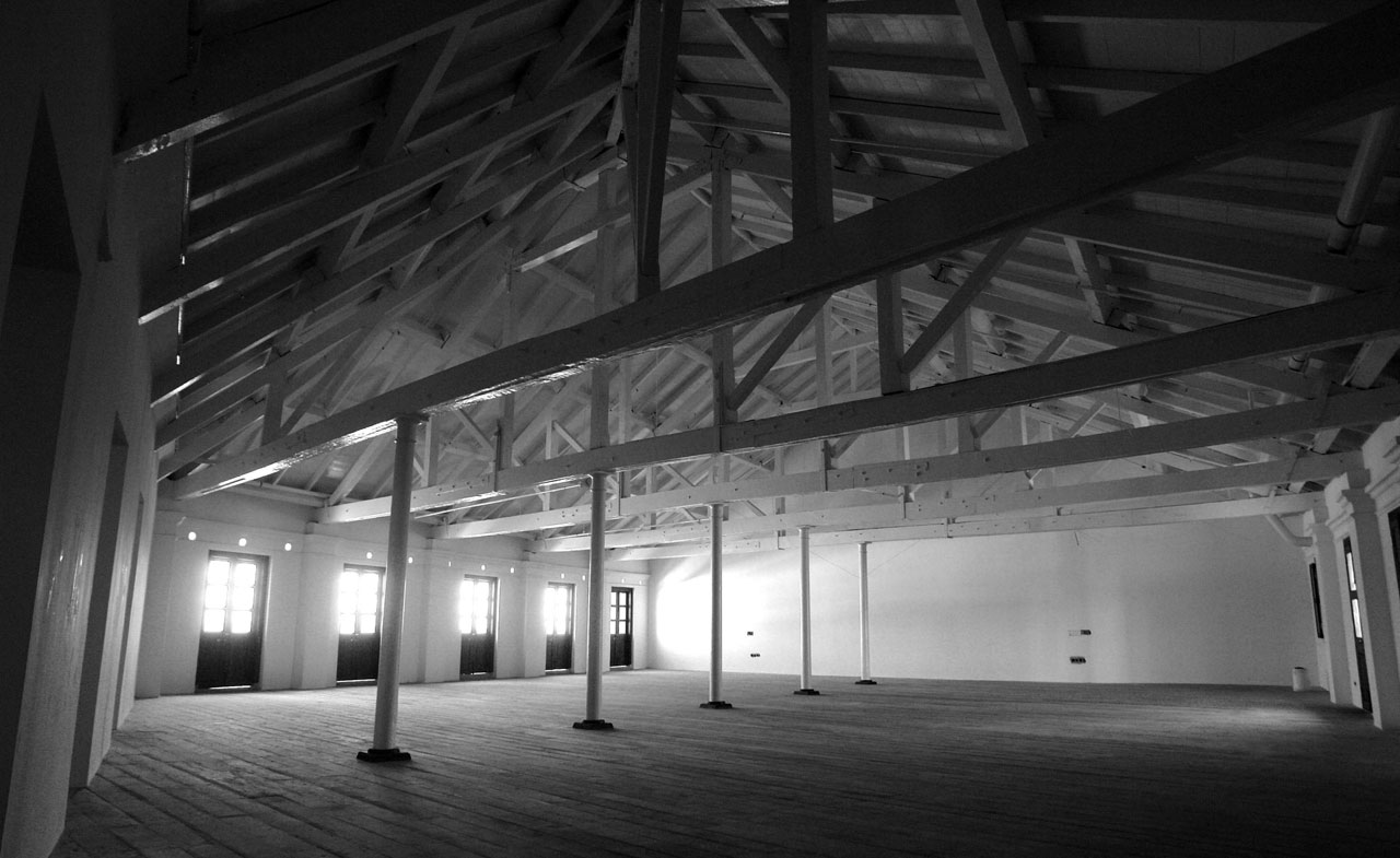 Project Boustead interior black and white